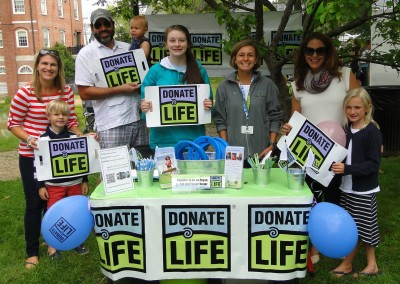 Donate Life Table, Newburyport,  July 2015